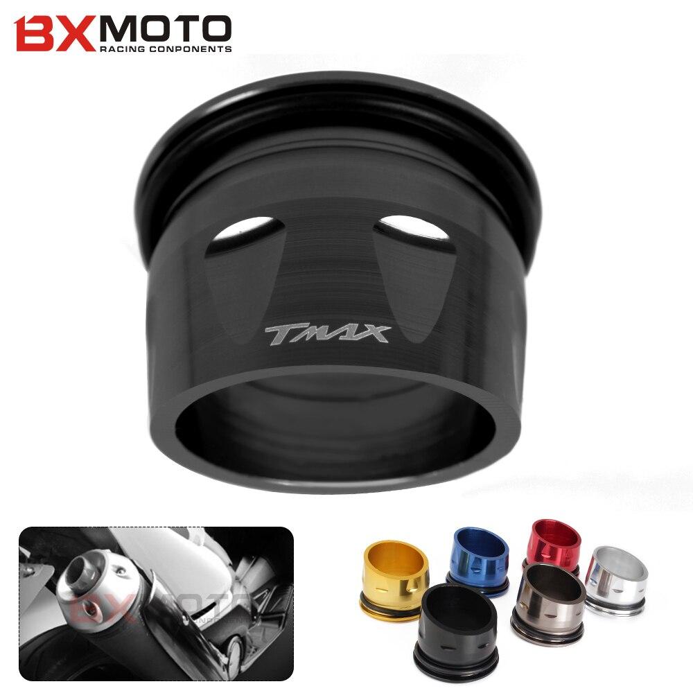 Motorrad TMAX Teil Schalldämpfer Schwanz Enden CNC Aluminium Auspuff Tip Abdeckung schwarz Für Yamaha t-max 530 TMAX T MAX 530 500 2012-2016