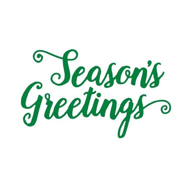 Season\'s Greetings Letter Stencil Metal Cutting Dies For ...