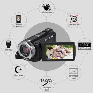 Image 3 - Andoer V12 1080P kamera wideo Full HD 16X kamera z zoomem cyfrowym w/3.0 Cal obrotowa podpórka ekranu lcd Night Vision
