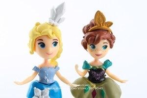 Image 4 - Disney dondurulmuş Anna Elsa prenses Olaf Sven ve kale buz saray taht 7 17cm 6 adet/takım aksiyon figürü anime heykelcik oyuncak modeli
