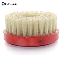 Finglee Circle Diamond Abrasive Brush 4.5/110mm inch M14 thread Making Leather Lapato Lapatura Finish