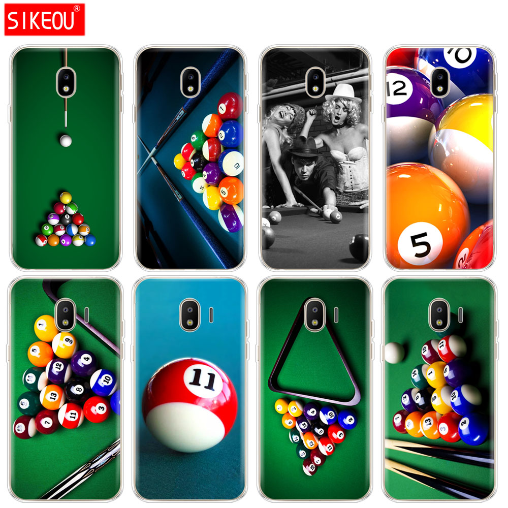 Fitted Cases Painstaking Silicone Cover Phone Case For Samsung Galaxy J3 J5 J7 2017 J330 J530 J730 Pro J2 2018 Billiard Ball Sports Gentlemanly Printing Refreshing And Enriching The Saliva