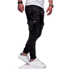 Men New Side Pockets Pencil Pants Joggers Vogue man Casaul long Pants