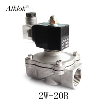 Stainless Steel 3/4 Water 12v Solenoid Valve G Thread VITON Seal Normally Closed Type
