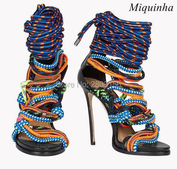 Fashion Cut Outs Gladiator High Heels women Sandals Stiletto Heel Sandal open toe Lace Up Pumps shoes woman набор коронок bosch 22 68 мм 11 предметов