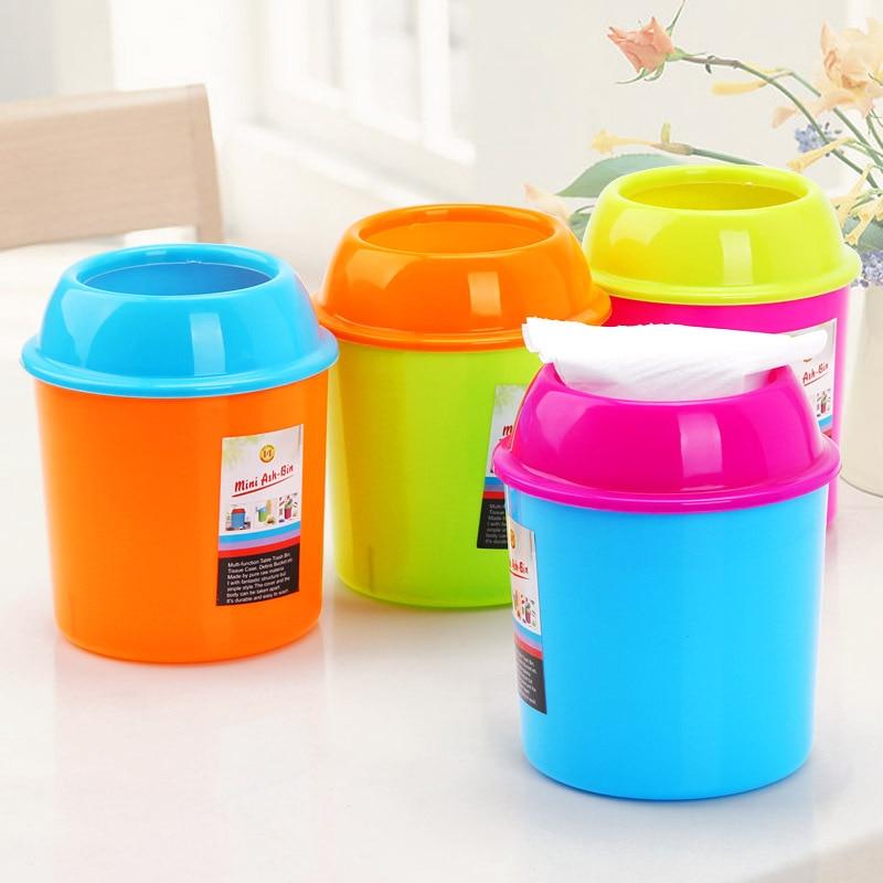 Free Shipping Mini Trash Can Plastic Waste Bin Desktop