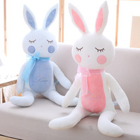 Kawaii Sleeping Bunny Doll Baby Birthday Gift Giant Stuffed Animal Rabbit Plush Toy 90cm