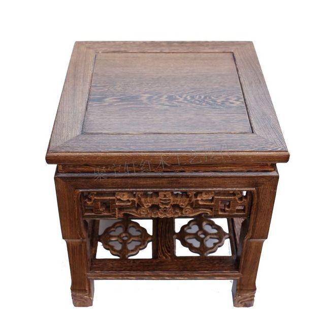 Festa um jacarandá escultura artesanato artigos de mobiliário doméstico agir o papel ofing é provado flor base de stands de altura de madeira real