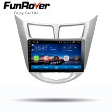 Funrover 9″ Android 8.0 2 din Car DVD GPS Player For Solaris Verna Accent with gps navigation radio video car stereo multimedia