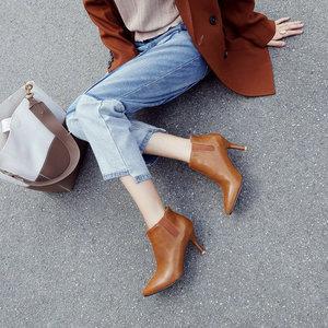 Image 2 - Sianie Tianie 2020 חורף סתיו האביב דק עקבים גבוהים נעלי אופנה מחודדת הבוהן משאבת גבירותיי נעלי עקב מגפי נשים קרסול מגפיים