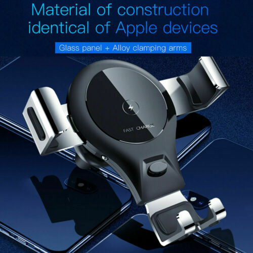 Qi Wireless Fast Charger Car Holder Gravity Mount For iPhone X Xs Max For Samsung S9 Note 9