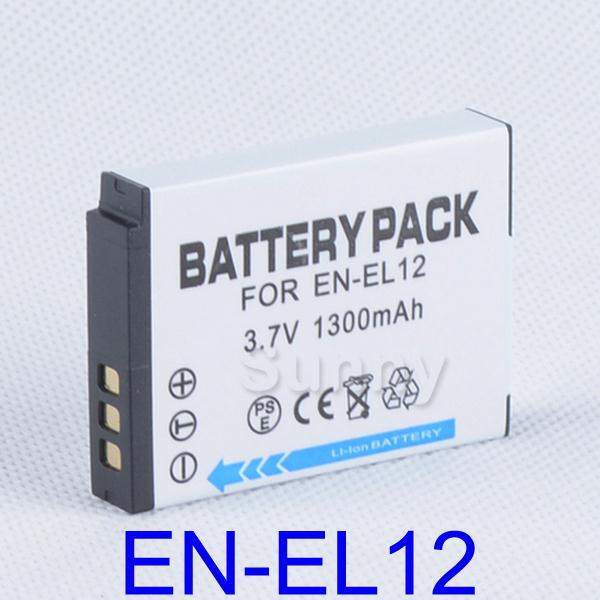 EN EL12 ENEL12 Battery pack for Nikon Coolpix AW100s AW110s AW120s P300 P310 P330 P340 S9500