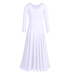 Image 3 - Iiniim Kids Girls Dancewear luźny krój balet współczesne kostiumy do tańca liturgiczne Tutu sukienka gimnastyka trykot baleriny