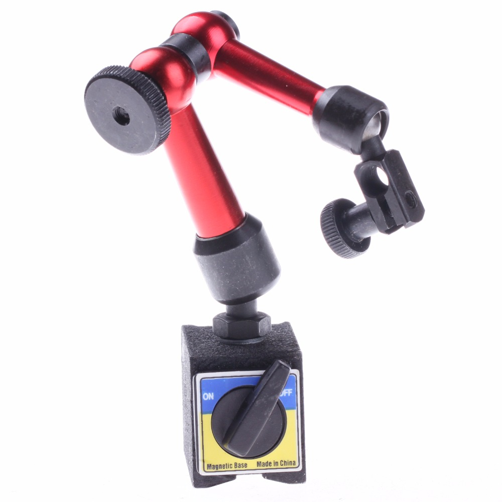 ZFE 1Pc Mini Magnetic Base Holder Stand For Digital Level Dial Test Indicator Tool mini flexible magnetic base holder stand dial test indicator tool