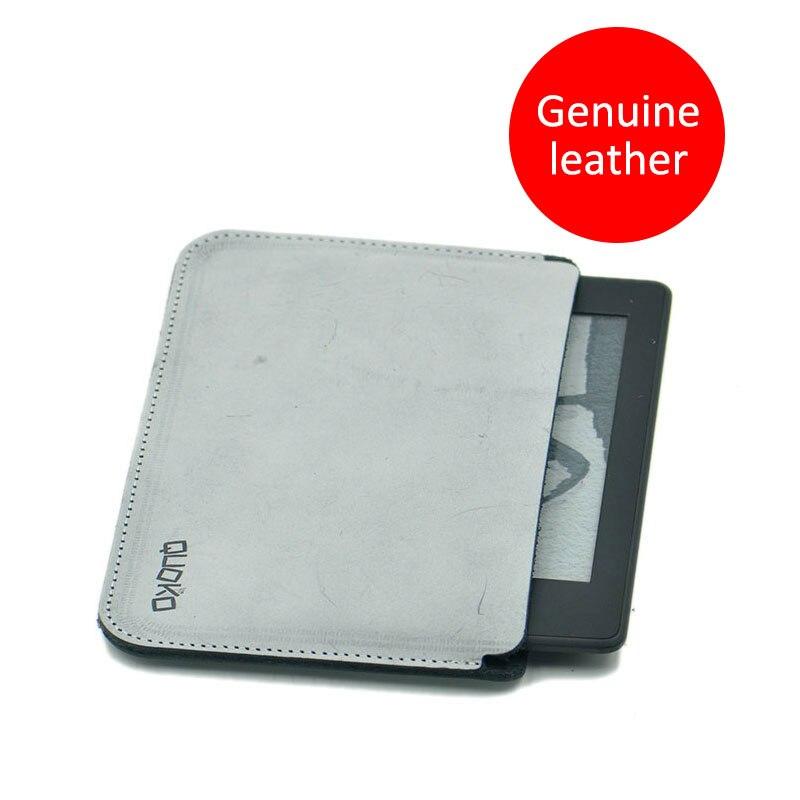 Simplicité et super mince 100% en cuir véritable E-Book sac housse pour Kindle Paperwhite Voyage 6 pouces, style transversal