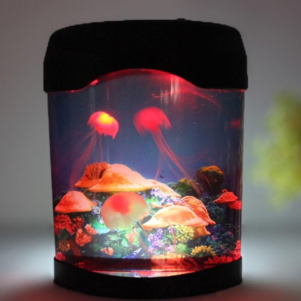 Colorful aquarium lampe led mduses fish tank mer monde nuit colorful aquarium lampe led mduses fish tank mer monde nuit lumire mduses bote multicolore aquarium accessoires dans aquariums tanks de maison parisarafo Images