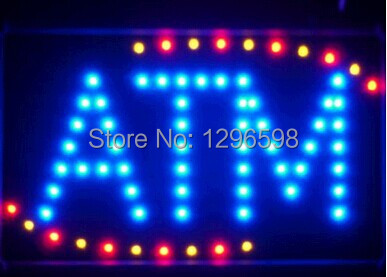 2017 ATM led sign direct selling custom graphics indoor running 10X19 inch