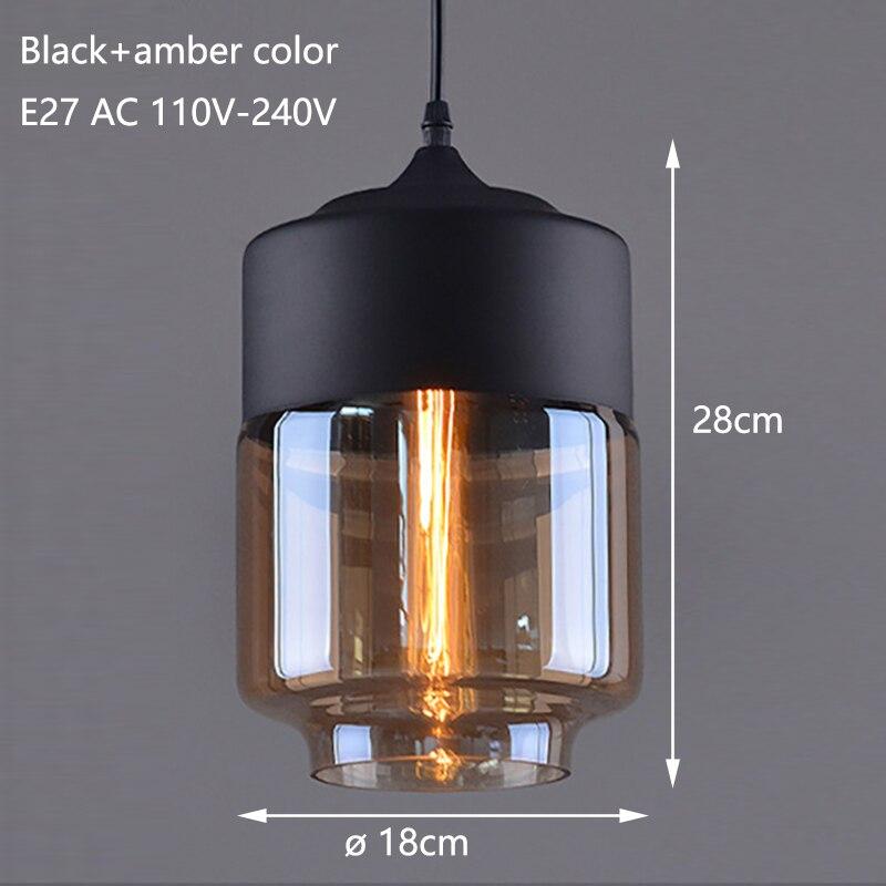 Nordic Modern loft hanging Glass Pendant Lamp Fixtures E27 E26 LED Pendant lights for Kitchen Restaurant Bar living room bedroom 2