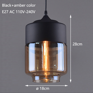 Image 2 - Nordic Modern loft hanging Glass Pendant Lamp Fixtures E27 E26 LED Pendant lights for Kitchen Restaurant Bar living room bedroom
