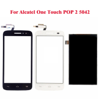 Schwarz weiß lcd display für alcatel one touch pop 2 ot5042 5042 5042d + touchscreen digitizer assembly ersatz