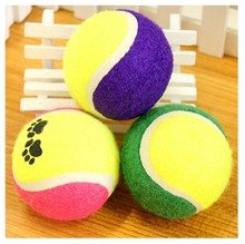 D40T Creative Tennis Balls Dog Toys Run Fetch Throw Play Pet Supplies Chew Toy Dog Trainings Free Shipping