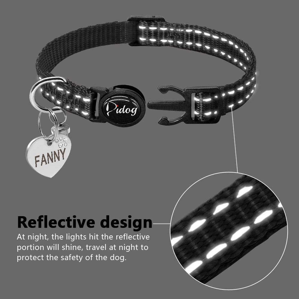 Custom Reflective Cat Collar