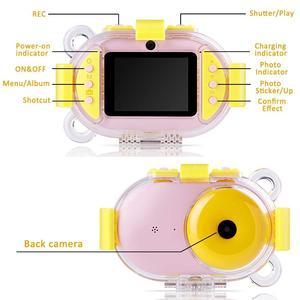 Image 2 - Profesyonel çocuk kamera dijital Wifi SLR Mini kamera noktası dalış Dual Lens 8MP 2.4 inç Full HD darbeye dayanıklı erkek kız kamera