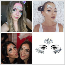 New Face Jewels Eyes Sticking Drilling Disposable Makeup Crystal Sticking Performance Music Festival Bar Nightclub Dance Party electric festival body art jewels paste diy chest drill acrylic drilling performance make up bar nightclub music party
