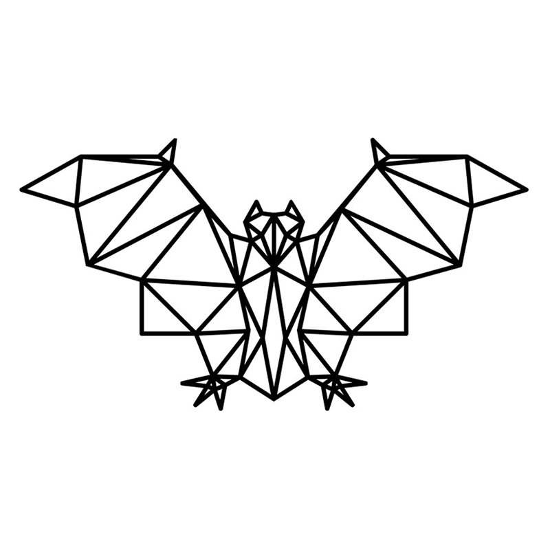 Geometric Bat Vinyl Wall Sticker Specia Animal Design Home ...