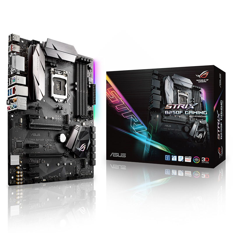 Carte Mère ASUS ROG STRIX B250F de JEU Spécial Sonic Radar Pour PUBG 6 PCI-E Slots 2 M.2 Slots Pour L'exploitation Minière 8 cartes Intel LGA1151