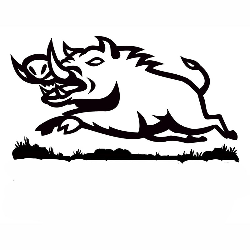 US $0 96 45% OFF|16X8 9CM WILD BOAR READY TO ATTACK Vinyl Car Sticker Decal  Accessories Fun Car styling S6 2177-in Car Stickers from Automobiles &