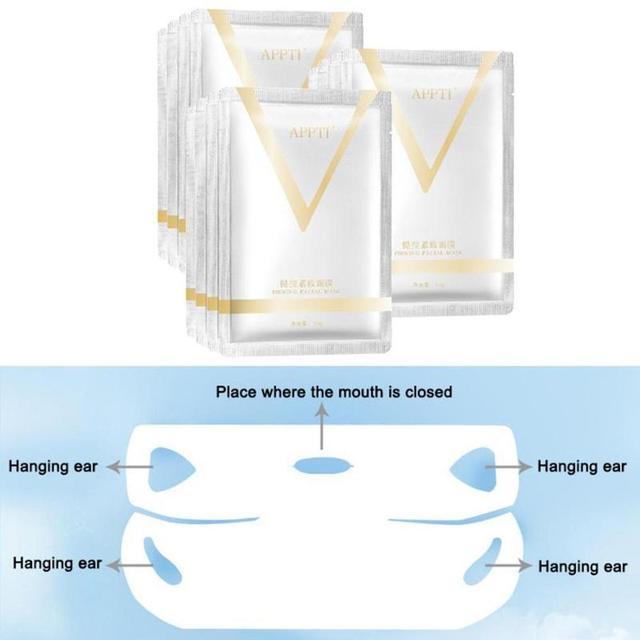 1PC V Face Lifting Facial Wrapped Masks V-Shaped Slimming Thin Face Mask V Bandage Mask Skin Treatment Double Lift Peel-off Chin 1