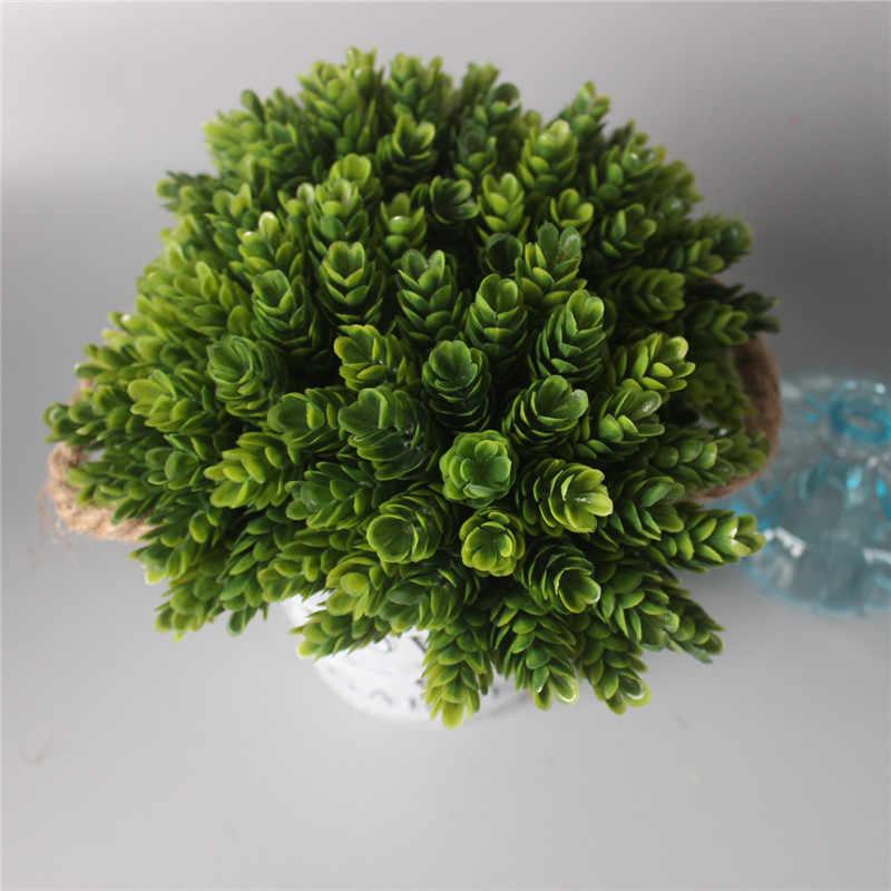 1 סט פרח + אגרטל מלאכותי צמח עם ברזל דלי חווה סגנון שולחן אביזרי חג המולד חתונת קישוט לבית