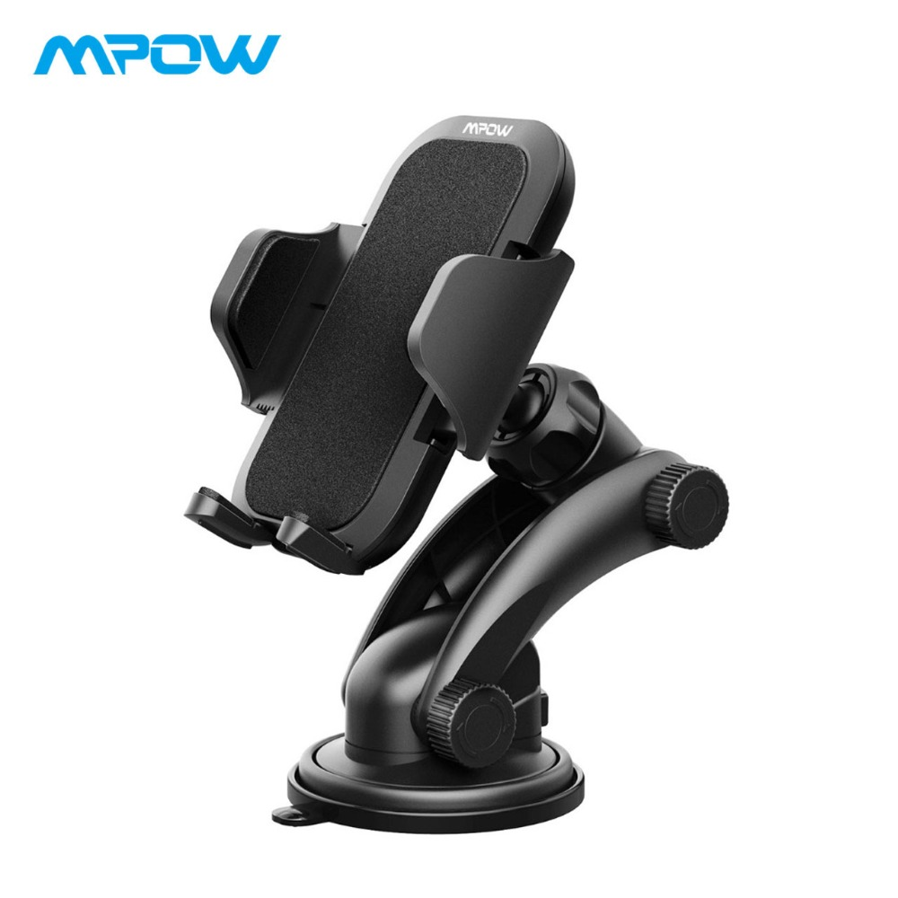 Mpow MCM12 Universal Dashboard GPS Car Mount Adjustable Windshield Holder Cradle With Strong Sticky Gel Pad Car Cellphone HolderMpow MCM12 Universal Dashboard GPS Car Mount Adjustable Windshield Holder Cradle With Strong Sticky Gel Pad Car Cellphone Holder