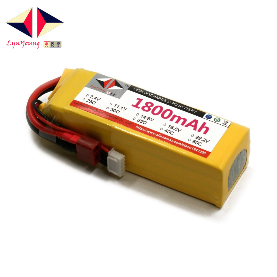 US $23 2 15% OFF|Aliexpress com : Buy LYNYOUNG 5s Lipo Battery 18 5V  1800mAh 25C for Car Drone Quadcopter plane truck parts from Reliable  battery