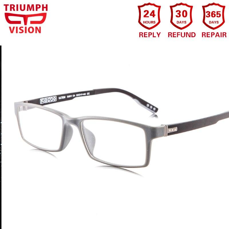 TRIUMPH VISION futuriste Ultem cadre Ultra léger lunettes de Prescription hommes myopie lunettes Anti Blue Ray ordinateur lunettes