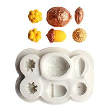 Nuts Shape DIY Fondant Cake Chocolate Decor Silicone Mold Baking Kitchen Tool silicone mold cake decorating toolsCake Mold