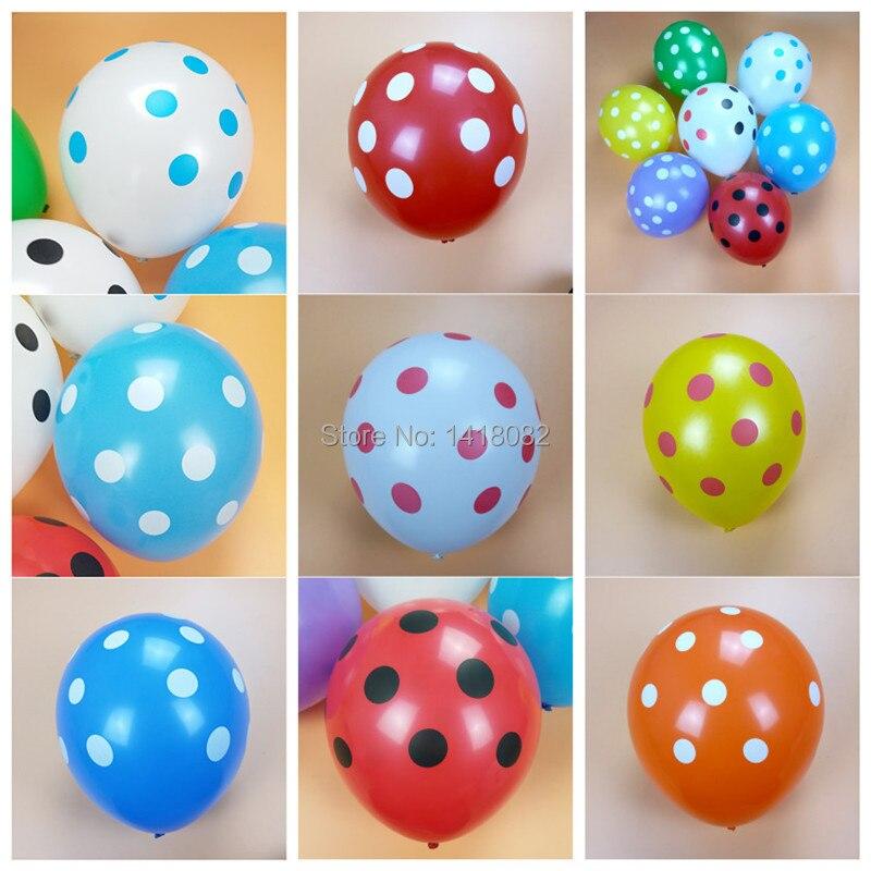 Hot Sale 30pcs12 inch latex balloon Polka Dot wedding anniversary birthday ballo