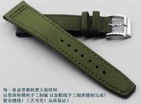 New outdoor Sports Watch pilot Mountaineering strap Army Green 20mm 22mm Composite Fiber Watchband Leather Watch strap