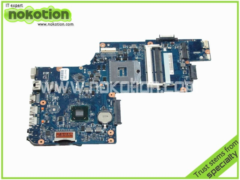NOKOTION brand new H000038370 laptop motherboard for toshiba C850 L850 GMA HD4000 15.6 screen Mother Board hm76 DDR3 hot new free shipping h000052580 laptop motherboard fit for toshiba satellite c850 l850 notebook pc video chip 7670m