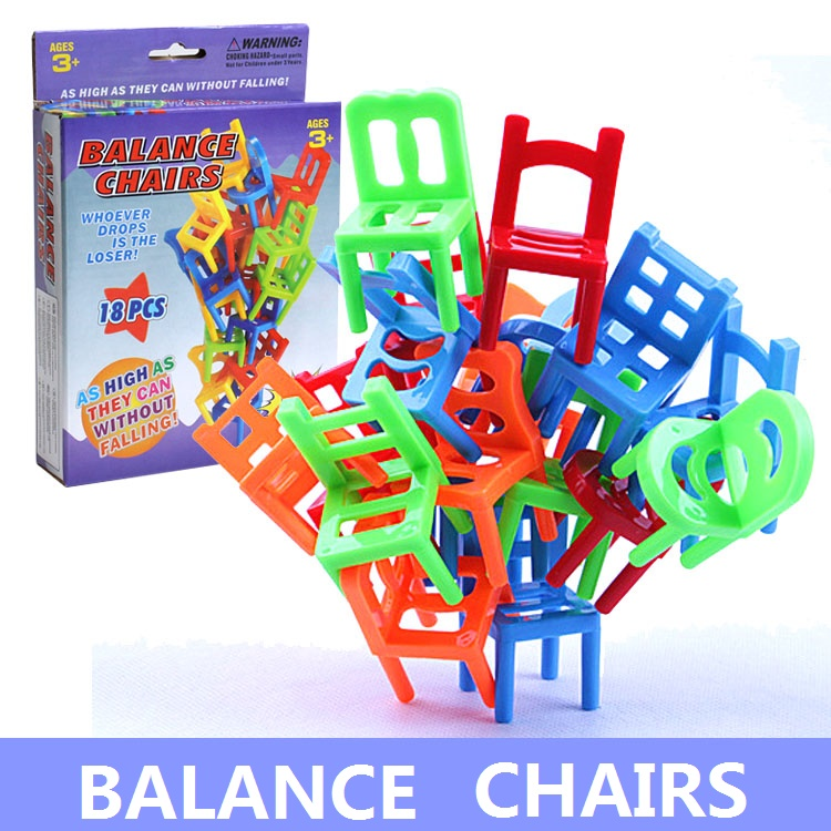 US $5 6 5% OFF|Balance chairs toys Plastic chair toy for Children Learning  Education fun game kids gift-in Gags & Practical Jokes from Toys & Hobbies