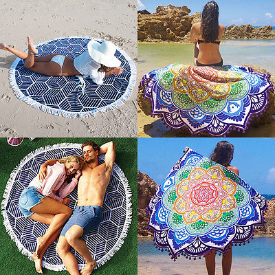 Indian Mandala Tapestry Hippie Peacock Printed Wall Hanging Rectangle Boho Bohemian Beach Yoga Mat Home Decor Free shipping