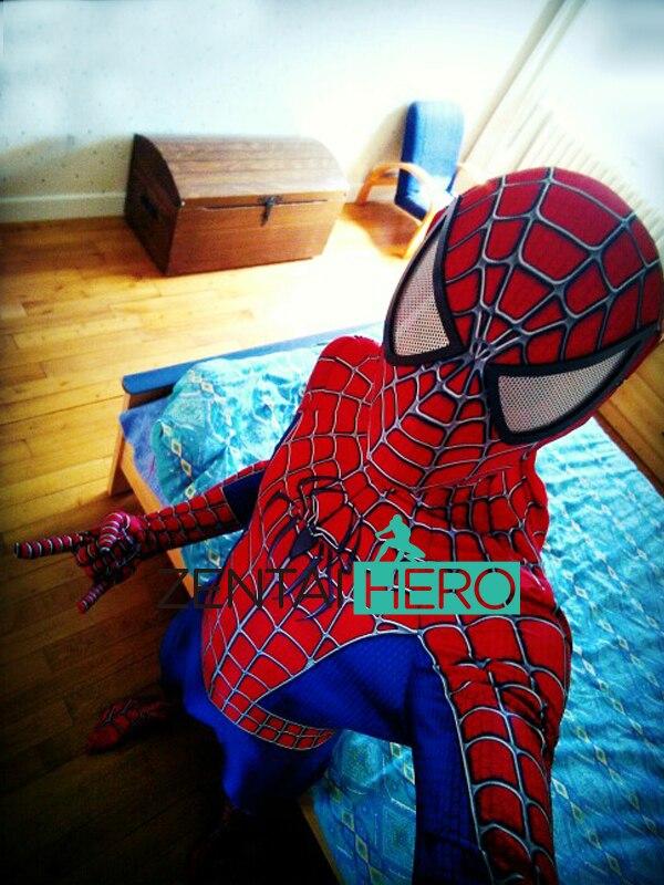 Doprava zdarma DHL Raimi Spiderman kostým 3D originální film 2017 Halloween Cosplay Spiderman Superhero kostýmní kostým