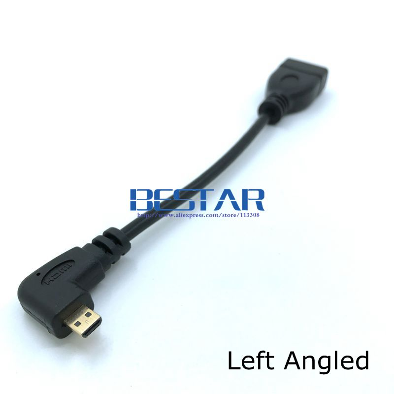 Micro HDMI 1.4 Male D Type Up Down Right Left Angled to HDMI Female Connector Cable 10cm for Laptop PC Micro-HDMI Cables Angle