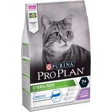 Сухой корм Purina Pro Plan для стерилизованных кошек и кастрированных котов старше 7 лет, с индейкой, Пакет, 3 кг