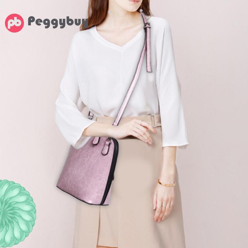 2018 Women Shell Shape PU Leather Crossbody Bags Vintage Fashion Solid Messenger Shoulder Bag Casual Handbag стоимость