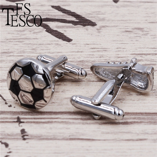 Football Shoes Cufflinks Wholesaleretail Black Copper Material Novelty Sport Design Business Suit Accessaries