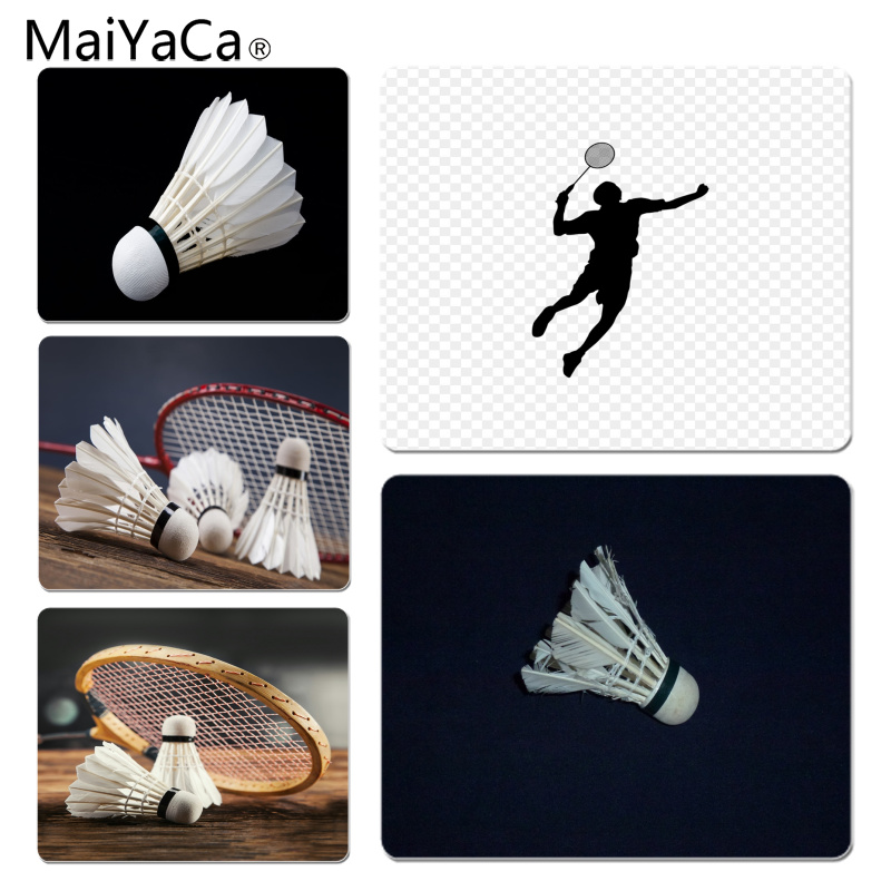MaiYaCa Cool New Badminton Ball Sports Large Mouse pad PC Computer mat Size for 18x22cm 25x29cm Rubber Mousemats