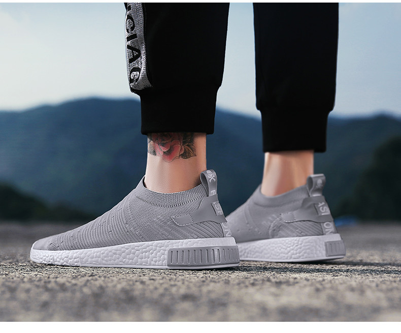 HTB1CA7MqLiSBuNkSnhJq6zDcpXas Thin Shoes For Summer White Shoes Men Sneakers Teen Shoes Without Lace Trend 2019 New Feel Socks Shoes tenis masculino chaussure