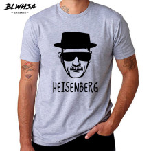 BLWHSA Breaking Bad Heisenberg Funny Men T Shirt High Quality Cotton O-Neck Short Sleeve Fashion Printed Men T-Shirts(China)